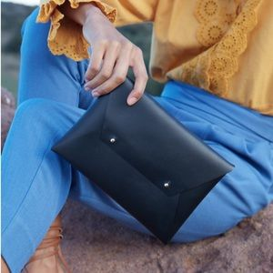 Tribe Alive Box of Style black leather clutch